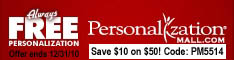 Anniversary Gifts - Personalization Mall - Save $10 off Orders over $50 - Ends 12/31/09