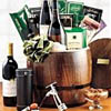 Wine Barrel Gift Basket