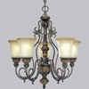 Wrought Iron Chandelier and Decor