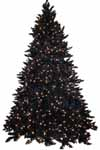 Black Christmas Tree with Lights