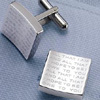 Fatherhood Cuff Links With a Special Message